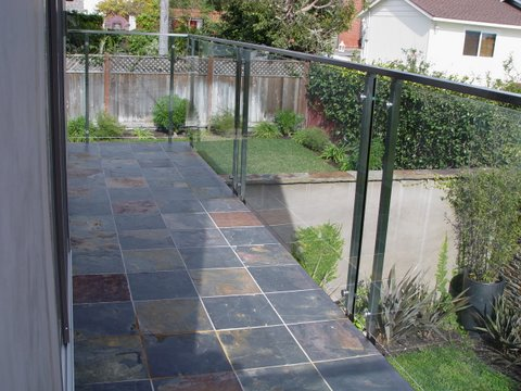 Glass and Stainless Steel Balcony Rail