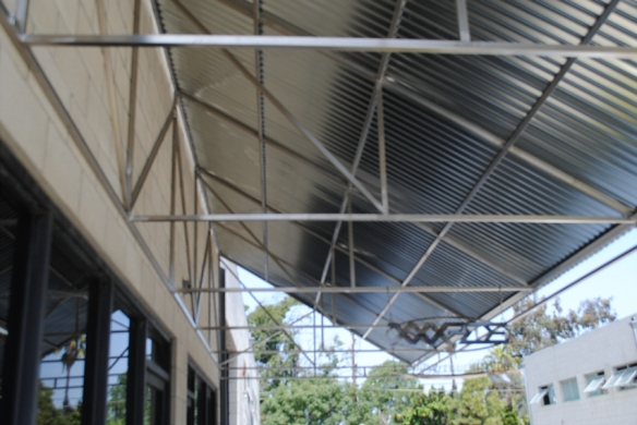 Stainless Steel Framework for Corrugated Metal Awning