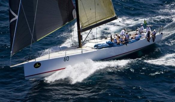 Full view of Racing Sailboat
